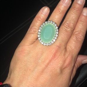 Jewelry - Gently Used Jade Ring W/Sparkle!